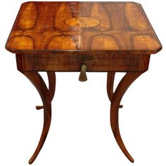 Biedermeier Single Drawer Table | From a unique collection of antique and modern side tables at http://www.1stdibs.com/furniture/tables/side-tables/