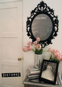 Decor DIY Chalkboard Paint Frame Glitter N Glue