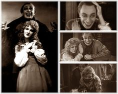 Gwynplaine and Dea in The Man Who Laughs (1928). Visual inspiration for The Joker, but he's actually the hero of this film!