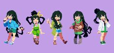 See more 'My Hero Academia' images on Know Your Meme! Sprites, Pretty Art, Cute Art, Arte 8 Bits, Pixel Life, My Hero Academia Tsuyu, Anime Pixel Art, Pixel Characters, Pixel Design