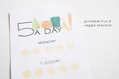 Printable Fruit & Veggie Checklist  [create]   ballarddesigns.com