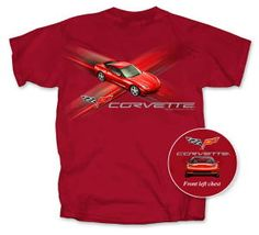 C6 Corvette T-shirt - Red Cross Fire - Small Only - Item #332$10.00  C6 Corvette T-shirt - Red Cross Fire - Small Only - Item #332 Click to enlarge It's hot, hot, hot! This one's popular, so don't wait to get yours. Front left chest of this red t-shirt displays a red C6 and logo, the full screened back displays a red C6. .
