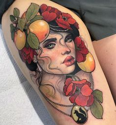 Tasmanian tattoo artist Hannah Flowers is inspired by Art Deco, Art Nouveau styles, and Vargas' lush portraits of pin-up girls. Tattoo Girls, Tattoo Designs For Girls, Flower Tattoo Designs, Flower Tattoos, Girl Tattoos, Portrait Tattoos, Temporary Tattoo Designs, Temporary Tattoos, Elegant Tattoos
