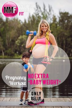 """No Extra """"Baby Weight"""" - Only Belly """"Pregnancy Workout"""". Great #WORKOUT to gain NO Excess WEIGHT during #PREGNANCY."""