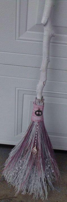 Wedding Broom/Handfasting Besom, Wedding Ceremony, Wedding Tradition, Jump The Broom, White Wedding, Pagan Wedding,Wiccan Wedding. $65.00, via Etsy.