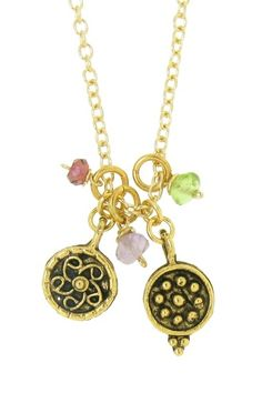 LEILA:  Patterned Circles Necklace  on HauteLook