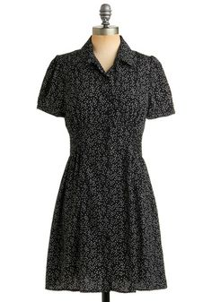 $48, Baby's Breath of Fresh Air Dress. Ruched waistband, buttoned front, slightly puffed sleeves. Polyester fabric.