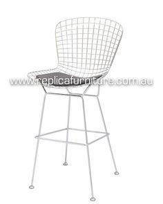 Bar Stool White Leather Amp Wood Brauer Birds Furniture
