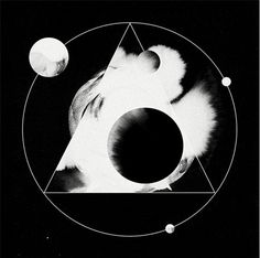 black and white, design, circle, geometric, space, triangle, planets