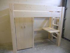 Halfhoogslaper Steigerhout Zitje : Zon steigerhout meubels steigerhout hoogslaper tim