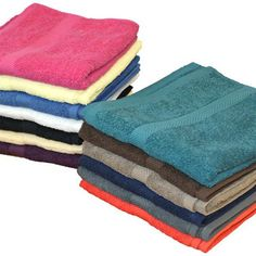 Multiple Colours to Choose From with even borders and   soft texture.  visit us at www.premiumtowelexportindia.com