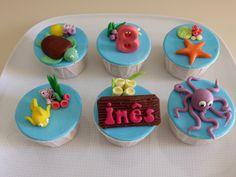 Cupcakes - Oceano / Fundo do Mar