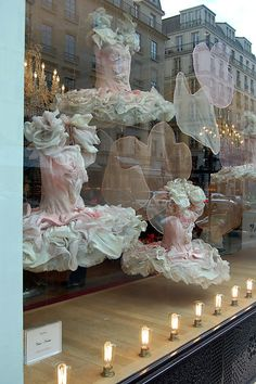 Repetto, Paris.  Footlights.  (As I side note, I absolutely love what Repetto does with their displays... too bad I can't wear their shoes thanks to too wide of feet!)