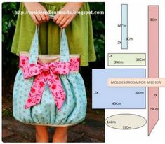Sewing things that Mommy (or Daddy) can use to assist Baby's needs! Sewing Hacks, Sewing Tutorials, Sewing Crafts, Sewing Projects, Purse Patterns, Sewing Patterns, Bag Quilt, Diy Sac, Fabric Bags