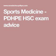 Sports Medicine - PDHPE HSC exam advice