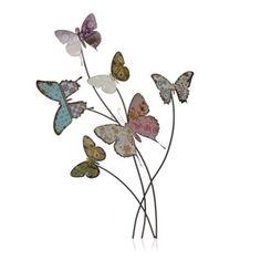Heaven Sends Metal pink butterfly wall art- at Debenhams.com