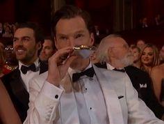 Benedict Cumberbatch winning Oscar night, how un-surprising.