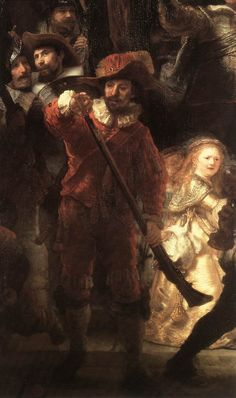 Rembrandt painting.  The Night Watch