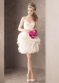 Vera Wang short wedding dress