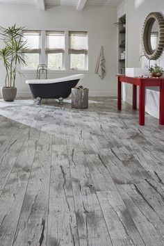 Worry-proof your home with the best selection of waterproof floors – like Felsen's Port Haven Oak CCP! It has all the benefits of tile, but clicks together with ease (no grout or mortar needed)!