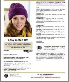 Knit Slouchy Hat Pattern, Beanie Knitting Patterns Free, Knit Headband Pattern, Easy Knitting Patterns, Loom Knitting, Free Knitting, Baby Knitting, Hat Patterns, Knitting Projects