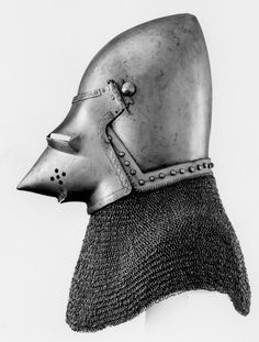 c1380-1400 North Italian bascinet. Royal Armouries, Leeds, UK (Left side)