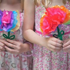 How to Make Paper Flowers With Kids