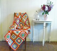 Granny Square Blanket... by Loving The Vintage, via Flickr