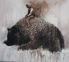 Samuli Heimonen ''My paintings there is often something people are greater. It may be an object, animal, or structure. In most cases, t. Different Kinds Of Art, Inspirational Artwork, Animal Totems, My Spirit Animal, Art Studies, French Art, Surreal Art, Art Blog, All Art