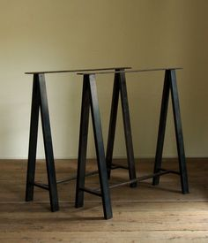 Dark Brown Iron Trestle Table #1 by GMR Archives @ Five From The Ground