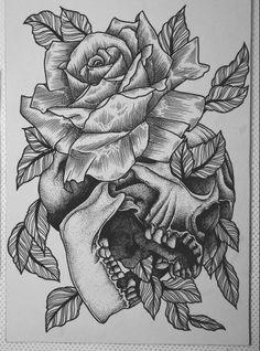 84 Best Skull Roses Images Skull Tattoos Drawings Pink Tattoos