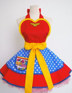 Hey, I found this really awesome Etsy listing at https://www.etsy.com/listing/96799629/wonder-woman-apron-only-two-are