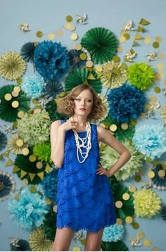 Beautiful Bold colors with this blue green and gold paper backdrop