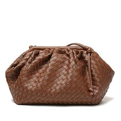 New woven large ruched cloud bag leather pleated shoulder slung dumplings bag clutch bag Clutch Bag, Crossbody Bag, Shoulder Sling, Purse Styles, Types Of Bag, Branded Bags, Louis Vuitton Speedy Bag, Fashion Handbags, Bucket Bag