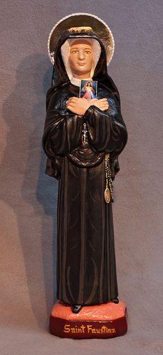 "St. Faustina Kowalska 18""Jesus Divine Mercy Catholic Christian Religious Statue"