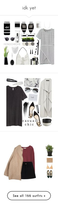 """""""idk yet"""" by oohpapi ❤ liked on Polyvore featuring Clinique, Stuart Weitzman, Kate Spade, Rebecca Minkoff, Jonathan Adler, Illesteva, Sephora Collection, H&M, Ross-Simons and Casetify"""