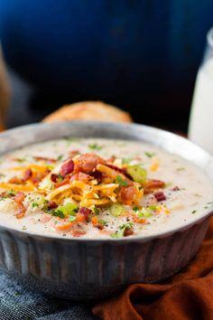ONE POT CAULIFLOWER CHOWDERFollow for recipesGet your FoodFfs  Mein Blog: Alles rund um Genuss & Geschmack  Kochen Backen Braten Vorspeisen Mains & Desserts!