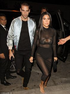 Intimate affair: While the pair were joined by Kris' oldest child Kourtney Kardashian (above), clad in a raunchy but glamorous sheer dress, the rest of the famous clan were not present Kourtney Kardashian Instagram, Kardashian Style, Kardashian Jenner, Kardashian Fashion, Kourtney Kardashion, Kim And Kourtney, Angel Outfit, Going Out, Underwear