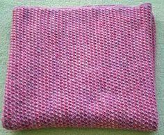 Isabella's blanket using malabrigo Worsted Merino yarn, Shocking Pink & Orchid