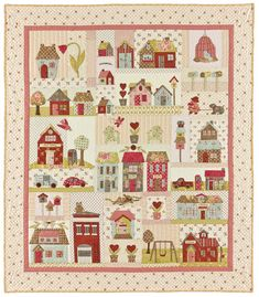 STILL WANT TO PAPER PIECE MINE, BUT A FEW EMBROIDERY EMBELISHMENTS MIGHT BE NICE. Tiny Town pattern 52X60 40$