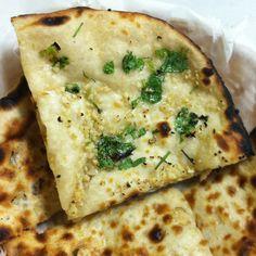 Garlic naan, Indian bread