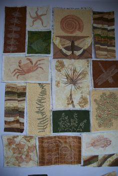 Quilt Art by Olena Pugachova: Fossil Quilt - October OMG
