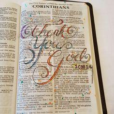 1 Corinthians 1:4 I thank God for you