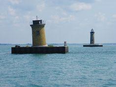 St. Clair Flats South Channel Range Lights (Lake St. Clair, Michigan)