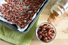 Spicy honey roasted almonds