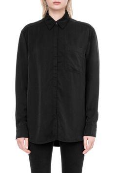 Down Shirt in Black