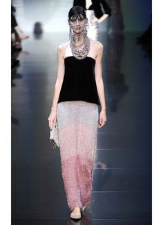 All blinged out at Giorgio Armani Privé Couture Fall 2012