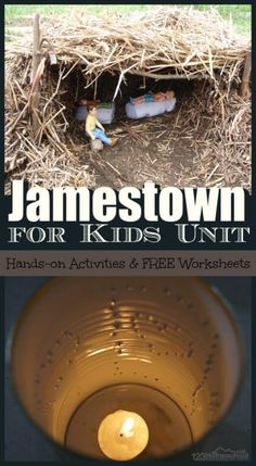 Tons of Jamestown Settlement Projects for Kids in this free unit on colonial america! Plus jamestown settlement crafts and free worksheets for kids of all ages in this colonial america lesson for homeschoolers and educational activities in school. History Lessons For Kids, Teaching Us History, American History Lessons, History Activities, History Education, Educational Activities, Kids Education, Jamestown Colony, Free Worksheets For Kids