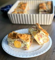 Bacon and Egg Pie Savory Pastry, Flaky Pastry, Puff Pastry Recipes, Pastry Dishes, Filo Pastry, Savoury Pies, Savoury Baking, Egg And Bacon Pie, Egg Pie
