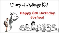 Custom Vinyl Diary of a Wimpy Kid Birthday by forlifesoccasions